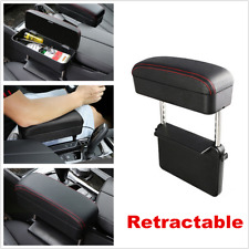 Black/Red Multifunction Car Seat Gap Storage Box Center Console Armrest Cushion