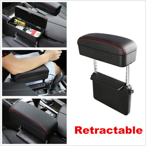 Black/Red Multifunction Car Seat Gap Storage Box Center Console Armrest Cushion