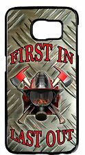 Case cover for Samsung Galaxy S6 S5 S4 S3 Note 2 3 4 Firefighter Fireman Helmet