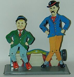 Pat & Patchon Litho Tin Double Slate Dancer Steam Attachment WK Germany 1920s