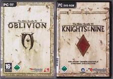 The Elder Scrolls IV 4 OBLIVION principal jeu + addon Knights of the Nine Jeux PC