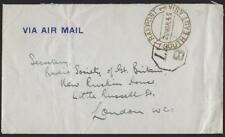UK GB 1945 ROYAL AIR FORCE FREE FRANK COVER SOUTHEAST ASIA FORCES TO LONDON NEAT