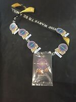Walt Disney World Who Wants To Be A Millionaire Lanyard & 5 Pins Retired