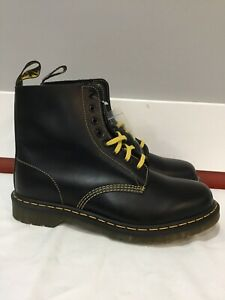 Dr Martens 1460 Pascal Mens Sz 11 Womens Sz 12 Black New Leather Boots