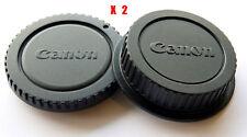 2X Camera Body Cover + Lens Rear Cap for Canon EOS 5D3 5DS 6D 7D 600D 650D 700D