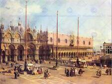 CANALETTO LA PIAZZA SAN MARCO OLD MASTER ART PAINTING PRINT POSTER 447OMB