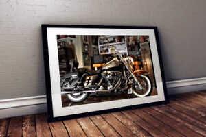 Harley Davidson Road King 24x36 HD Poster Print