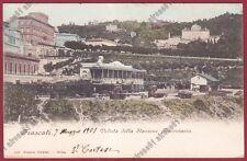 ROMA FRASCATI 16 STAZIONE FERROVIARIA Cartolina viaggiata 1901