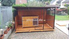 Hundezwinger Hundekäfig 300x200x175 cm mit Holzboden und 3/4 Holzwände +Aufbau
