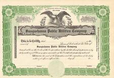 Susquehanna Public Utilities Company > stock certificate scripophily