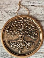 Tree of Life Bronze Terracotta Plaque - 20cm x 20cm x 1cm Witchraft/Wicca/Pagan