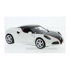 Motormax 79513 Alfa Romeo 4C Matt White/Black 2014 Scale 1:24 New !°