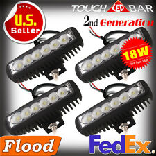 4pc 18W Cree LED Spot Single Row Work Light Bar Backup Offroad Truck Motorcycle