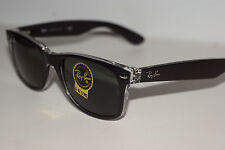 RAYBAN  SUNGLASSES  2132 52MM  NEW  WAYFARER BLACK   CRYSTAL 6052  G-15 LENS