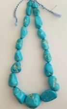 One Strand 100%Natural Sleeping Beauty Turquoise Tumbled Beads Necklace