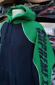 FW17 Supreme GT navy / green hooded sweatshirt Supreme Team Hoodie size L large