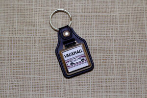 Vauxhall FD Victor / Ventora / VX4/90 Keyring - Leatherette & Chrome Keyfob