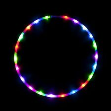 LED Hula Hoop Fully Rechargeable and Collapsable 28 Color Strobing Lights 36 inc