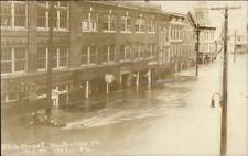 Montpelier VT State St. Flood 1927 Real Photo Postcard