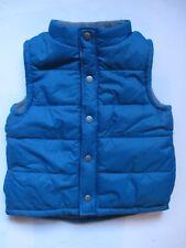 Gymboree Snow Days Teal Blue Microfleece Puffer Vest Jacket Boys S 5-6 NEW NWT