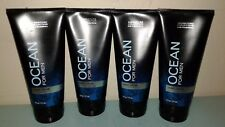 4x RARE BATH and & BODY WORKS MENS OCEAN FOR MEN SHAVE CREAM SOOTHING ALOE LOT 4