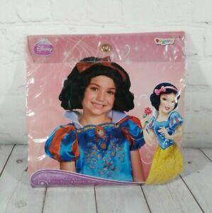 2013 Disguise Snow White Disney Hair Wig Girls 4+ Halloween Costume Princess NEW