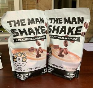 The Man Shake - A Healthy Meal In A Shake Coffee Flavour 840g x 2 Packs