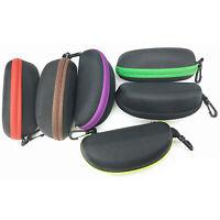2PCS Zipper Eye Glasses Sunglasses Hard Case Box Portable Protector Holder