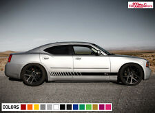 Decal Graphic Vinyl Side Stripes Kit for Dodge Charger RT 2006-10 Racing Panel