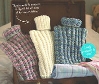 Easy Rib Stitch Hot Water Bottle Covers Fits All Sizes  ~  DK Knitting Pattern