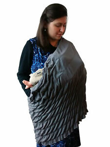 Snood. The Infinity Scarf, Breastfeeding Cover up, Nursing Cover, Black, Grey