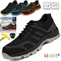Mens Safety Blue Shoes Steel Toe Cap Boots Outdoor Sport Casual Running Sneakers