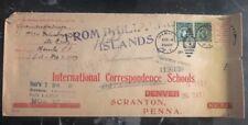1907 Philippines Cover To International Correspondence School USA
