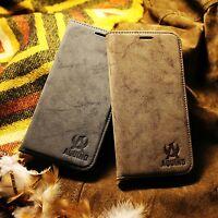 LG G5 Handy Flip Case Leder Synthetisch Tasche Folien Etui Cover Hülle Vintage