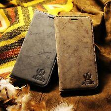 Galaxy Note 4 Handy Tasche Wildleder Synthetisch Bumper Schutzhülle Etui Case
