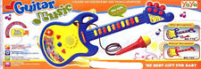 Kids Guitar Toy Educational Instrument With Light Music With Microphone Gift