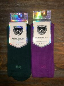 2 PACK OF PAIR OF THIEVES MEN'S SPORTS CREW SOCKS PRISM COLLECTION SIZE 8-12 New