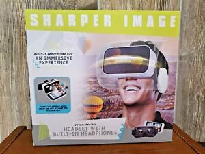 SHARPER IMAGE VIRTUAL REALITY HEADSET WITH BUILT IN HEADPHONES NEW