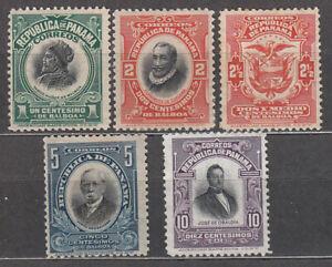 Panama Mail 1909-17 Yvert 98/101+ 103 /( ) MH / Mng