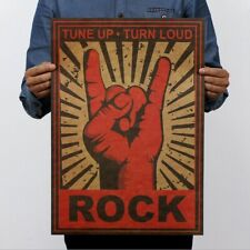 "Tune Up Turn Loud Motivational Vintage Poster Rock Art Wall Decor 14""x20"" Gift"