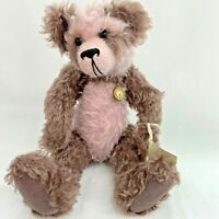 "Artist Purple Panda Teddy Bear Judy Howard English Mohair 16"" Vintage 6 Jointed"