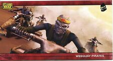 Star Wars Clone Wars Widevision Silver Stamped Parallel Base Card [500] #42