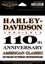 "HARLEY-DAVIDSON Adesivo, Decal"" 110th Anniversary ""centrale * DC 1282772 *"