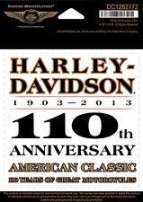 """Harley-Davidson Adesivo, Decalcomania """"110th ANNIVERSARIO"""" centrale DC1282772"""