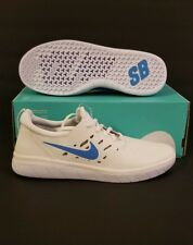 Nike SB Nyjah Free Summit White/Solar Red/White/Light Blue Fury Sz9.5 AA4272-101