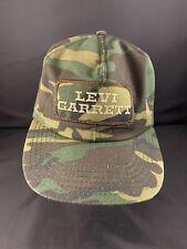 Vtg 80s Levi Garrett Tobacco Trucker Farm Hat Snapback USA Camo Cap