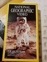 National Geographic Video For All Mankind VHS First Apollo Moon Missions 1992