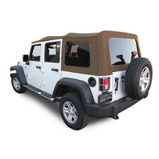 Jeep Wrangler 4 DR JK Soft Top, 2010-2018, Tinted Windows, Saddle Sailcloth