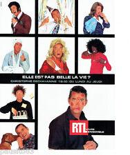 PUBLICITE ADVERTISING 096  2002  Radio RTL   christophe Dechavanne