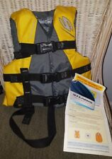 New With Tags Stearns Child Size 30-50 LBS Ski Vest #3040  Grey and Yellow